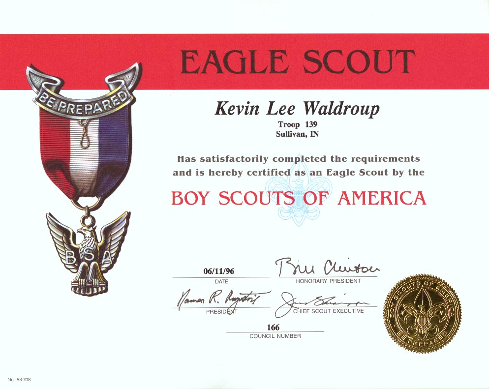 scouting certificates